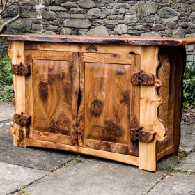 Burr Elm Drinks Cabinet