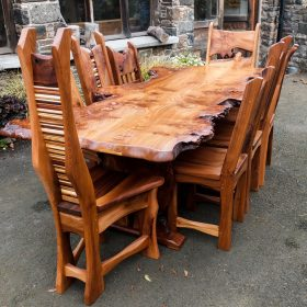 Large Burr Elm Dining Table