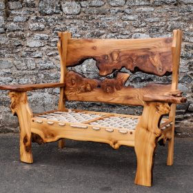 Elm Sofa with roped seat