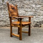 Elm Slab Carver Chair